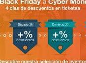 Ticketea suma Black Friday descuentos decenas conciertos