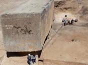 Descubren bloque piedra antiguo grande mundo