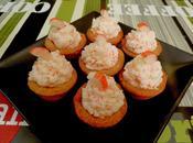 Mini tartaletas rellenas surimi, coco piña