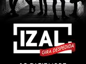 Izal badajoz, gira despedida, palacio congresos, diciembre