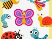Gráficos vectoriales insectos lindos historieta Vector Gratis