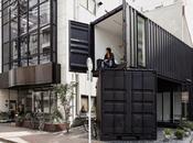 contenedores pleno Tokio, pequeña construcción diseñada varios usos
