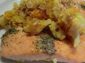 Salmón horno patata calabaza