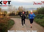 Entreno nocturno Xtrem Running Team Hoko Esport Vika Sunglasses para Horas Pista Dragó (Barcelona)