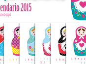 Good Monday! este lindo Calendario 2015 Láminas NUEVA Colección Mamushkas!