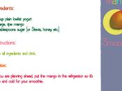 Mango Smoothie...¿Qué smoothie? enseñamos hacer instrucciones inglés...