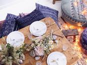 Tablescape: blue moon