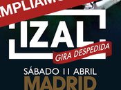 Izal amplía aforo para concierto gira madrid