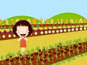 niña huerta: aprendiendo cultivar comemos