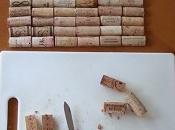 Alfombra hechas corcho vinos