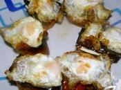 Montadito huevos codorniz