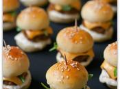 Fútbol snacks: mini hamburguesitas eneldo chalotas