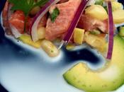 Ceviche salmón leche tigre