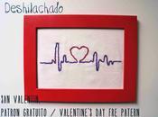 Bordado Valentín, patrón gratuito Valentine's embroidery, free pattern