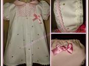 vestido niña jaretas, cuello bebé manga corta-tema
