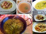 Selección sopas calientes deliciosas