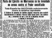 prensa madrileña sublevación 1936