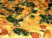 Tortilla espinacas chistorras