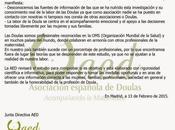 Comunicado Asociación española Doulas