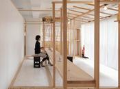 Entrelazado madera tienda Japón
