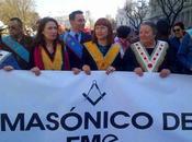 Participación masónica manifestación Marzo