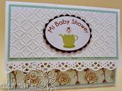 Invitaciones Baby Shower Shabby Chic Blue Polka Dots