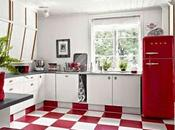 Cocinas vintage rojo