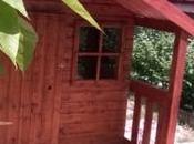 Casita madera FELIX para niños instalada propios clientes MADRID
