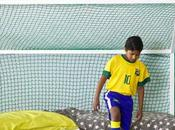 Cama infantil portería para peques fans fútbol