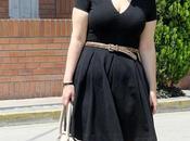 Looks clásico vestido negro