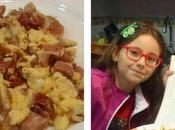 Huevos revueltos chorizo, panceta jamón