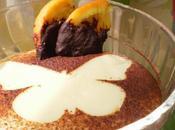 Natillas naranja espolvoreada cacao