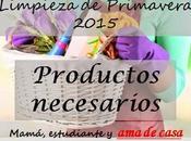 Limpieza primavera 2015 (Productos necesarios)