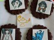 Galletas chocolate decoradas proyecto galleta cuento- aladino lámpara mágica