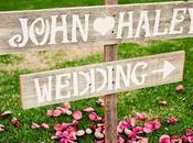 Señaliza boda flechas carteles madera.