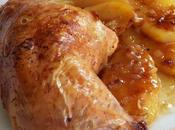 Pollo asado sobre sopa)
