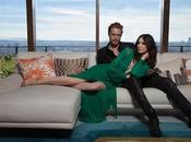 Heughan Caitriona Balfe Outlander posan para Emmy Magazine