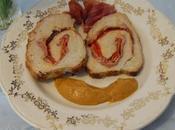 Lomo relleno jamón serrano, queso pimientos piquillo, lactosa