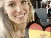 Edurne llega Viena para participar Eurovisión