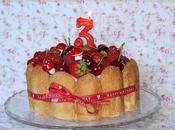 Charlotte cake vainilla, lemon curd frutos rojos... para Tercer cumpleaños Desafío Cocina