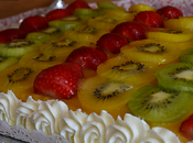 Tarta frutas crema pastelera yema tostada