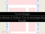 """¿Como cambiar gadget """"Attribution"""" tecnología blogger?"""