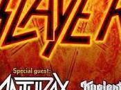 Gira conjunta Slayer Anthrax Bilbao, Coruña, Madrid Barcelona
