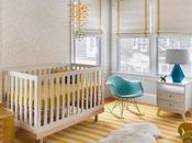 habitación infantil amarillo turquesa