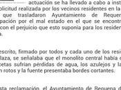 COMUNICADO INCREIBLE AYUNTAMIENTO REQUENA sobre fuente Antonio Requena, Valencia
