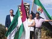 monolito celebra unión Extremadura, Mancha Andalucía