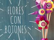 Flores fieltro botones