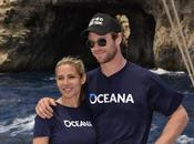 Elsa Pataky Chris Hemsworth unidos océano