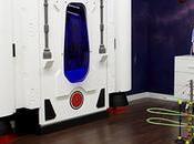 Cama infantil forma nave espacial para pequeñ@s astronautas