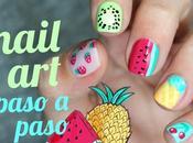 Cómo hacer diseños frutas uñas